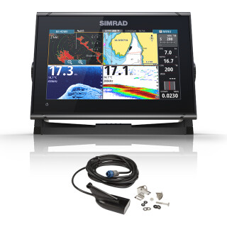Simrad GO9 XSE Echo GPS mit HDI Med/High/DownScan Geber