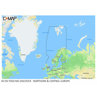 C-MAP DISCOVER Northern and Central Europe