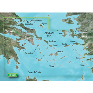 Garmin BlueChart g3 Vision HD Small - VEU450S - Athens and Cyclades (Athen und Kykladen)