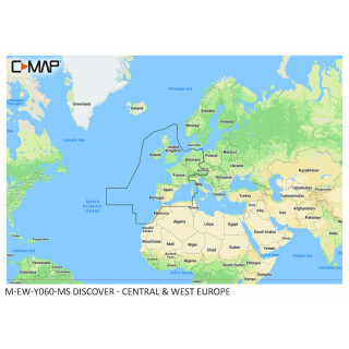 C-MAP DISCOVER Central and West Europe
