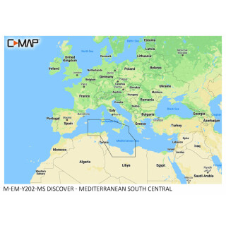 C-MAP DISCOVER Mediterranean South Central