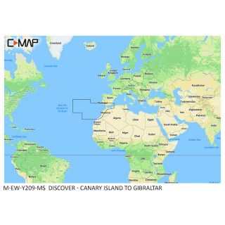 C-MAP DISCOVER Canary Island to Gibraltar